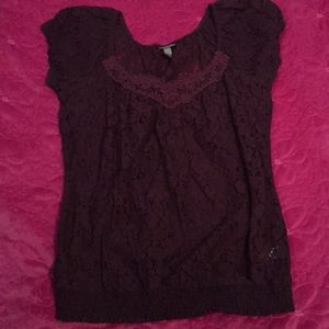 Plum colored lace top